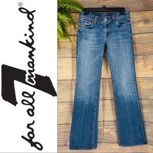 7FAM Medium Blue Wash U075080u-080u Boot Cut Jeans